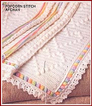 Auntie Pats Hearts & Shell Afghan