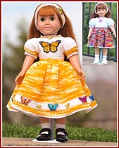 Becca Loves Butterflies dresses for 18 inch dolls