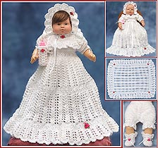 Belinda's Blessing Christening Layette for 15 inch - 18 inch - 20 inch baby dolls.