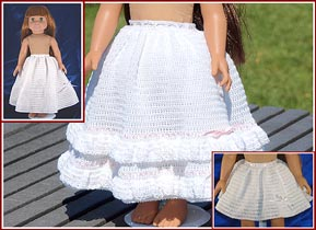 Full petticoat for 18 inch doll.