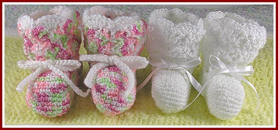 Treasured Heirlooms Crochet Free Patterns Simple Baby Booties