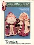 Td creations Musical Old World Santa