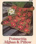 Annie's Attic Poinsettia Afghan & Pillow