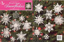Annies Attic Crocheted Pearl Drop Snowflakes