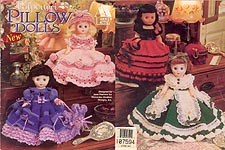 Annie's Attic Potpourri Pillow Doll Dresses for 13 inch dolls