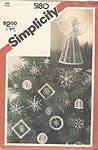 Simplicity Crocheted Christmas Ornaments and Tree Top Angel