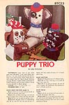 Annie's Attic Puppy Trio stuffed dogs
