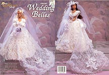 TNS Crochet Wedding Belles dresses for 18 inch fashion dolls