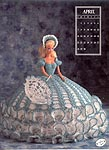 Annies Calendar Bed Doll Society, Collector Series, Miss April 1991.