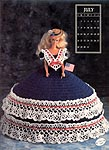 Annies Calendar Bed Doll Society, Collector Series, Miss July 1991.