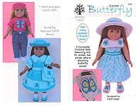 Shady Lane Crochet Butterfly Fashions for 18- Inch Dolls