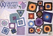 GS 3600 Leisure Arts 99 Granny Squares To Crochet