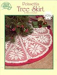 ASN White Christmas Collection: Poinsettia Tree Skirt in Filet Crochet