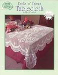 ASN White Christmas Collection: Bells 'n' Bows Tablecloth in Filet Crochet