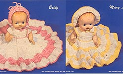 Betty and Mary Lou Dressed Doll Crochet Instructions
