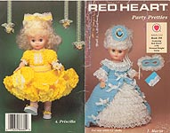 Red Heart Party Pretties to crochet for 13-inch dolls