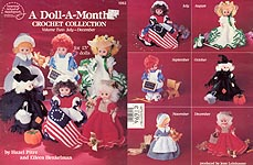 A Doll A Month Crochet Collection, Volume Two, July - December