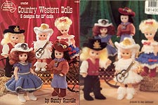 Crochet Country Western Dolls for 13-inch dolls