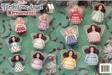 Annie's Attic Crochet Birthstone Angel Ornaments