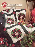 Annie's Crochet Quilt & Afghan Club, Holly Wreath Afghan