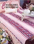 Annie's Crochet Quilt & Afghan Club, Chainlinks Bedspread