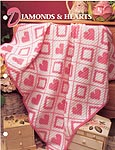 Annie's Crochet Quilt & Afghan Club, Diamonds & Hearts