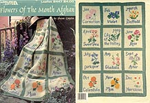 LA Flowers of the Month Afghan