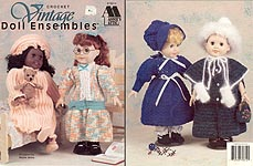 Annie's Attic Vintage Doll Ensembles for 18 inch dolls.