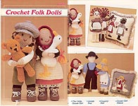 Annie's Attic Crochet Folk Dolls