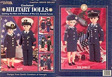 Military Dolls Army, Navy, Marines and Air Force outfits for boy and girl 15 inch dolls.