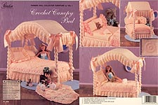 Paradise Pub. Fashion Doll Collector Furniture Volume 1: Crochet Canopy Bed