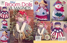 Annie's Attic Mini Broom Dolls & Magnets