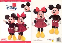 Leisure Arts Mickey and Minnie Mouse Dolls