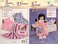 Sweet Dreams Nightie, Bunny Slippers, Doll, Afghans, and Pillows for 18 inch dolls