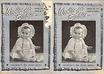 Coats & Clark's Book No. 197: Woolies for Babies
