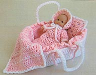 Maggie's Crochet Moses Baby Basket