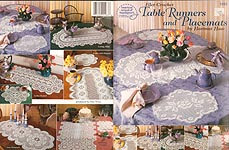 ASN Filet Crochet Table Runners and Placemats
