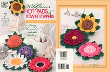Annies Attic Wildflower Hot Pads & Towel Toppers