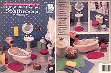 Fashion Doll Home Decor Crochet Collectors Guild: Turn-of-the-Century Bathroom