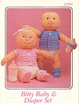 Annie's Attic crocheted soft sculpture Bitty Baby doll