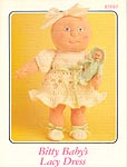 Annie's Attic crocheted soft sculpture Bitty Baby Lacy Dress
