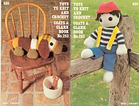Toys to Knit and Crochet: Coats & Clark Book No. 283