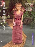 Knitted Rose Fashion Doll Dress