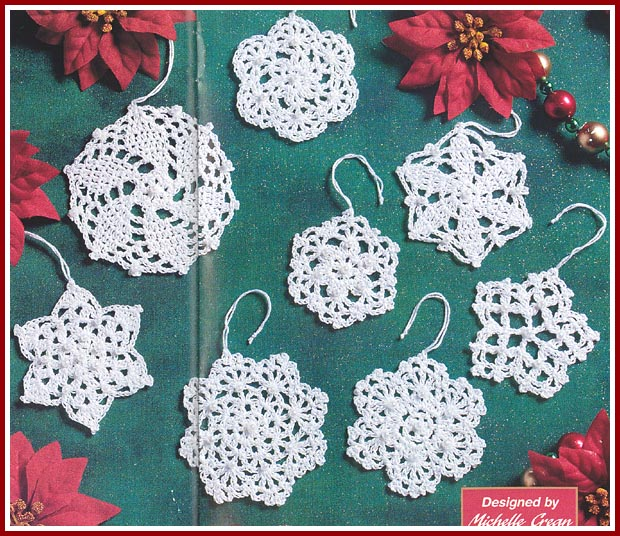 Free Crochet Cotton Christmas Patterns : Free Christmas Crochet Patterns Snowflake Patterns Free