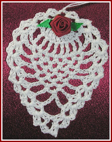 Christmas Crafts Crocheted Holiday Wreath, Thread Tree Ornaments