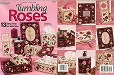 Tumbling Roses plastic canvas home accessories