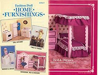 Fashion Doll Home Furnishings -- plastic canvas kitchen and bedroom furniture and accessories