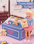 Annie's Fashion Doll Plastic Canvas Club: Country Hearts Toy Chest
