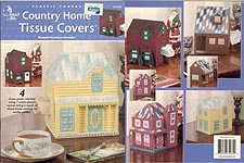 Annie's Attic Plastic Canvas Country Home Tissue Covers