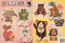 Annie's Attic Plastic Canvas Delightful Light Switch Covers